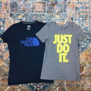 """Nike """"Just Do It"""" & The North Face T-Shirt bundle"""